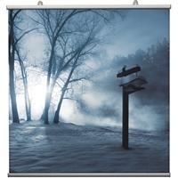 Coppia profili porta poster/banner con apertura laterale, lunghezza cm 100